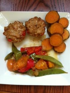 Chicken Muffins & Veggie StirFry